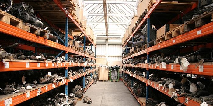 parts room shelves
